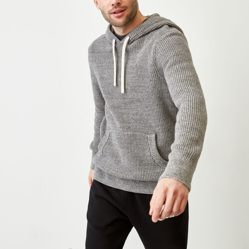 Roots-Men Bestsellers-Baffin Shaker Hoody-Sharkskin Mix-A