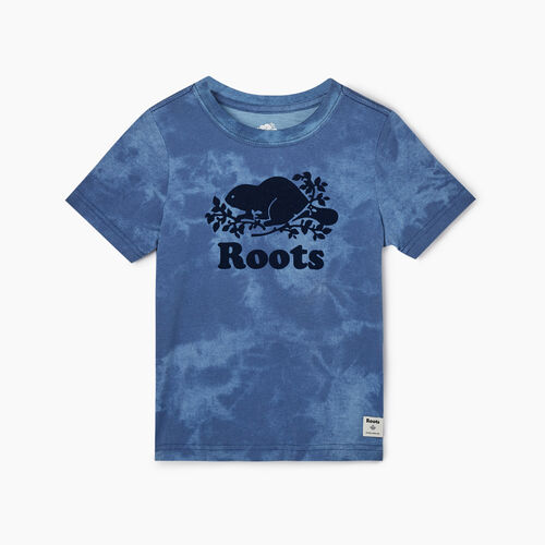 Roots-Kids Toddler Boys-Toddler Cooper Beaver T-shirt-Federal Blue-A