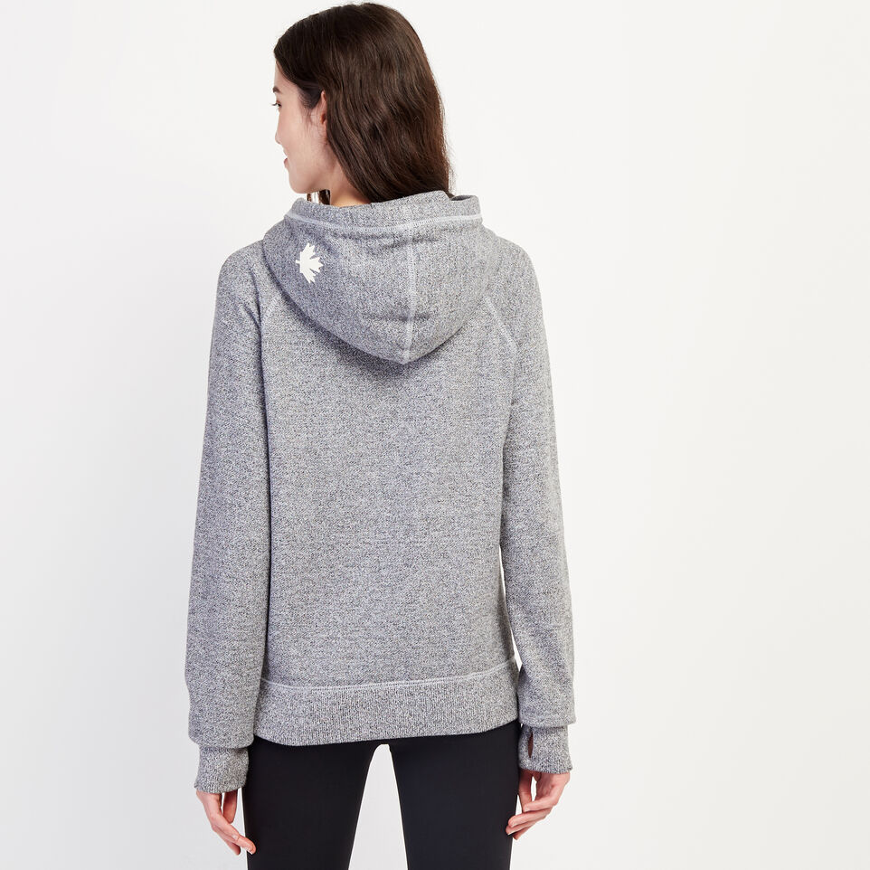 Roots-Women Clothing-Roots Salt and Pepper Original Kanga Hoody-Salt & Pepper-D