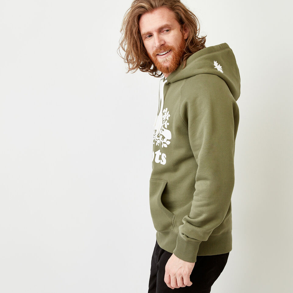 Roots-Men Sweats-Original Kanga Hoody-Lichen-C