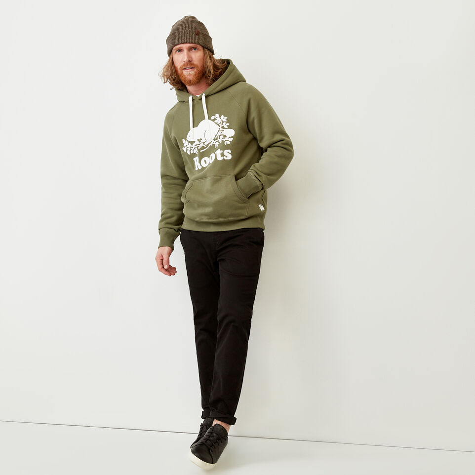 Roots-Men Sweats-Original Kanga Hoody-Lichen-B