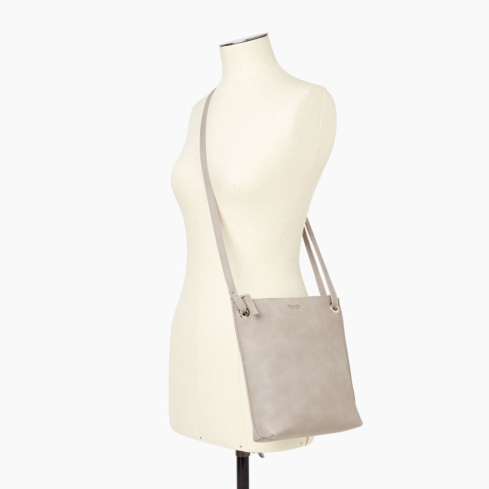 Roots-Leather  Handcrafted By Us Handbags-Festival Bag-Sterling Grey-B