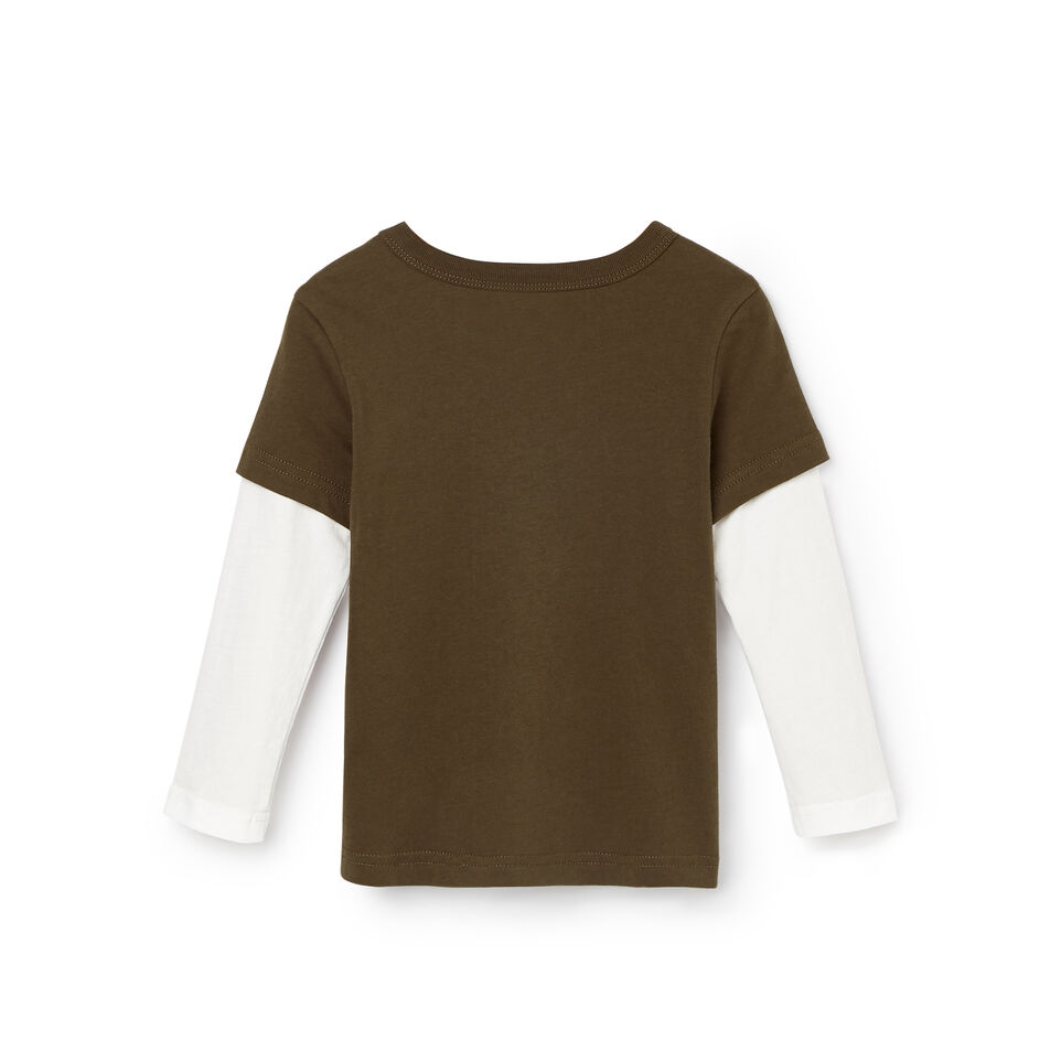Roots-Kids Tops-Toddler Roots Classic T-shirt-Fatigue-B