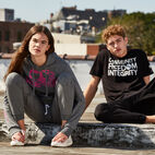 Roots-New For April Roots X Boy Meets Girl-Roots x Boy Meets Girl - Unisex CFI T-shirt-Black-F