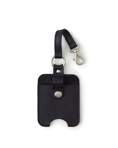 Roots-Men Leather Accessories-Hand Sanitizer Holder 2.0-Black-A