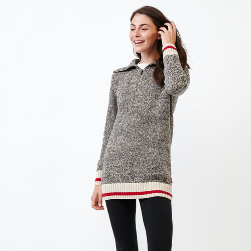 Roots-Women Sweaters & Cardigans-Roots Cotton Cabin Stein-Grey Oat Mix-A