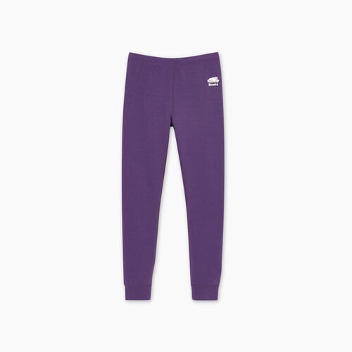 Roots-Kids Bottoms-Girls Cozy Fleece Legging-Loganberry-A
