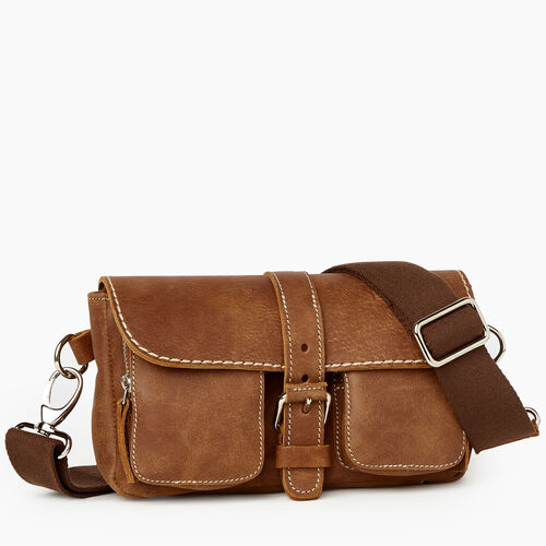 Roots-Leather Mini Leather Handbags-Convertible Small Emily Tribe-Natural-A