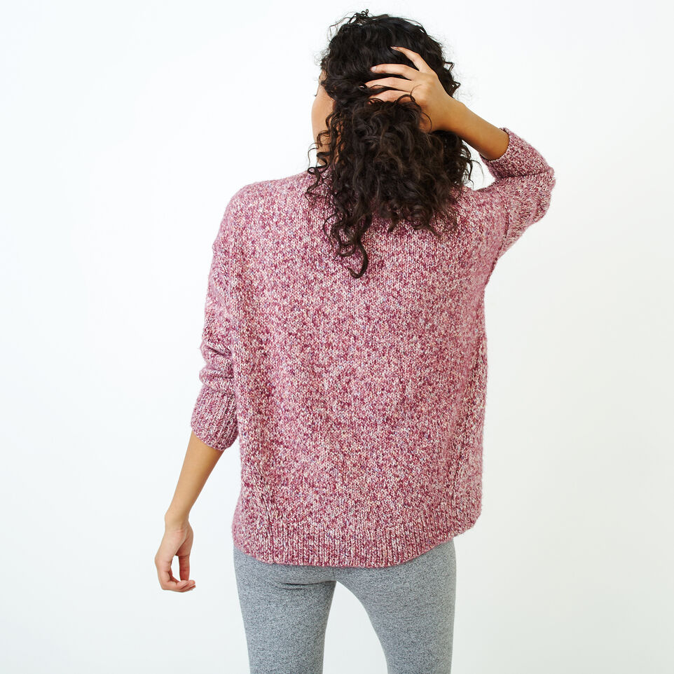Roots-Women Categories-Moss Crew Sweater-Purple Potion Mix-D