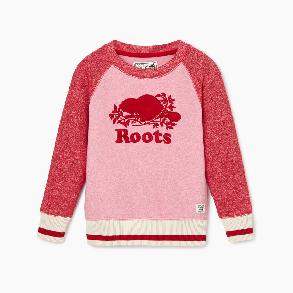 Roots-New For November Kids-Toddler Roots Cabin Cozy Sweatshirt-Cashmere Rose Pepper-A