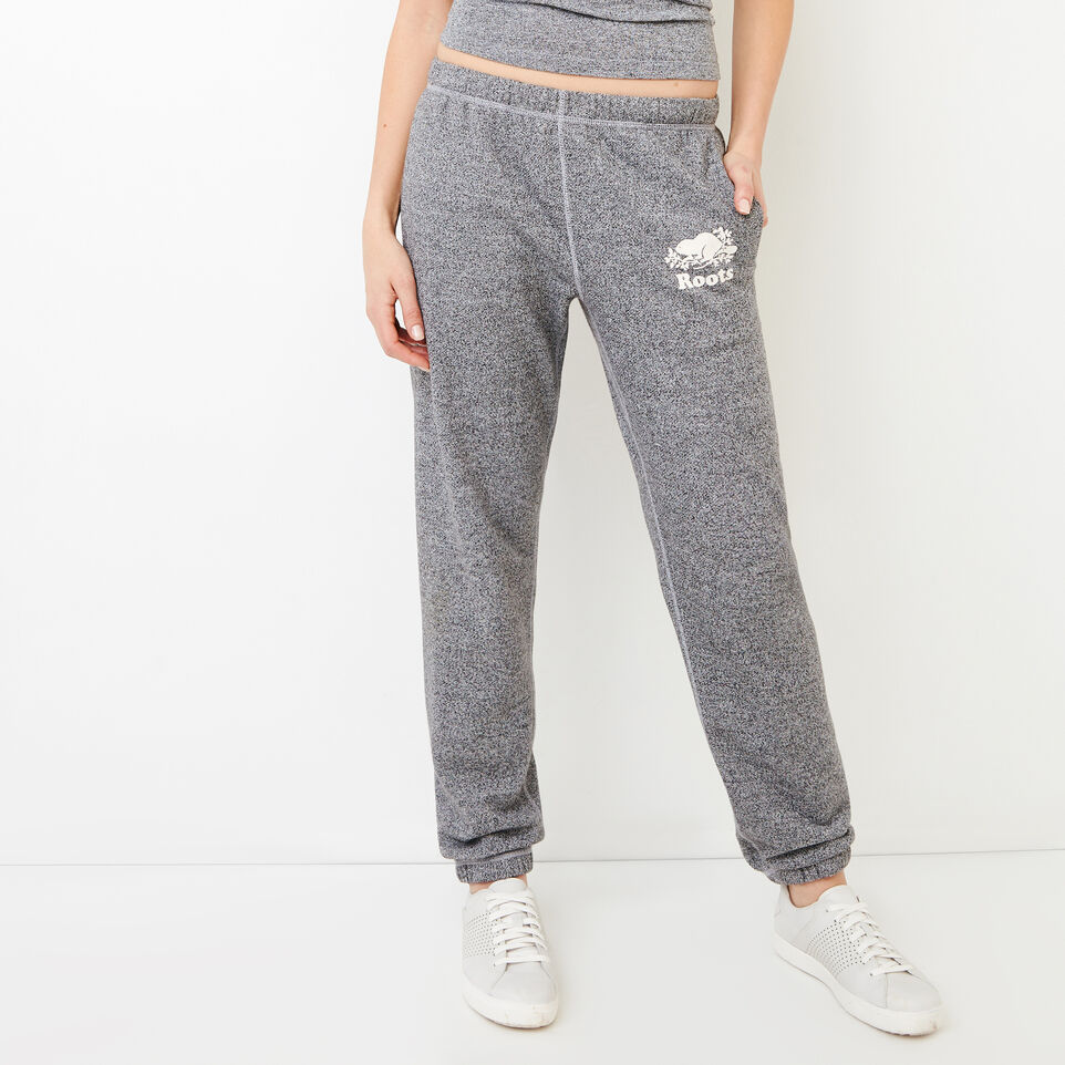 Roots-Women Original Sweatpants-Roots Salt and Pepper Original Sweatpant - Short-Salt & Pepper-A