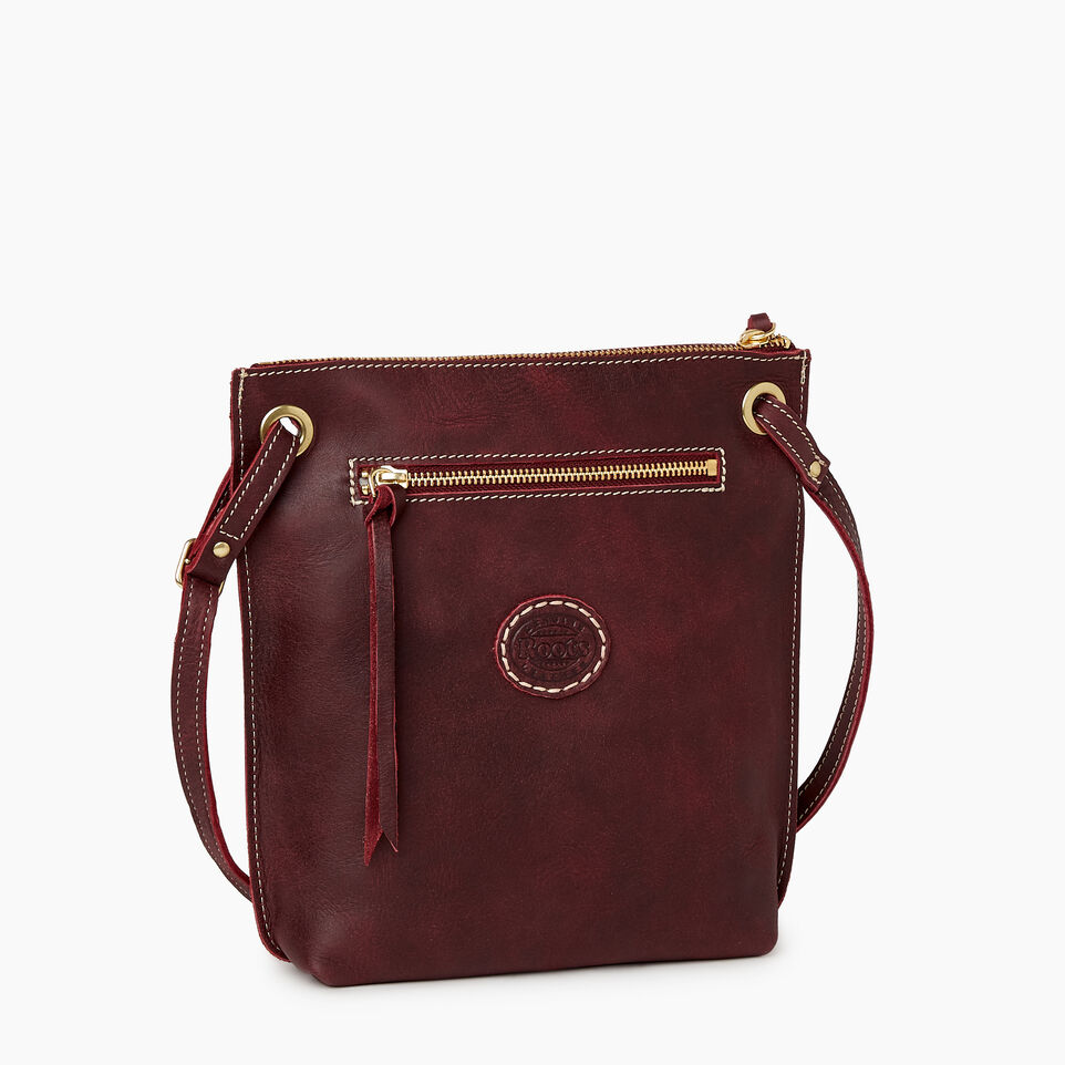 Roots-Leather  Handcrafted By Us Handbags-Festival Bag Tribe-Crimson-C