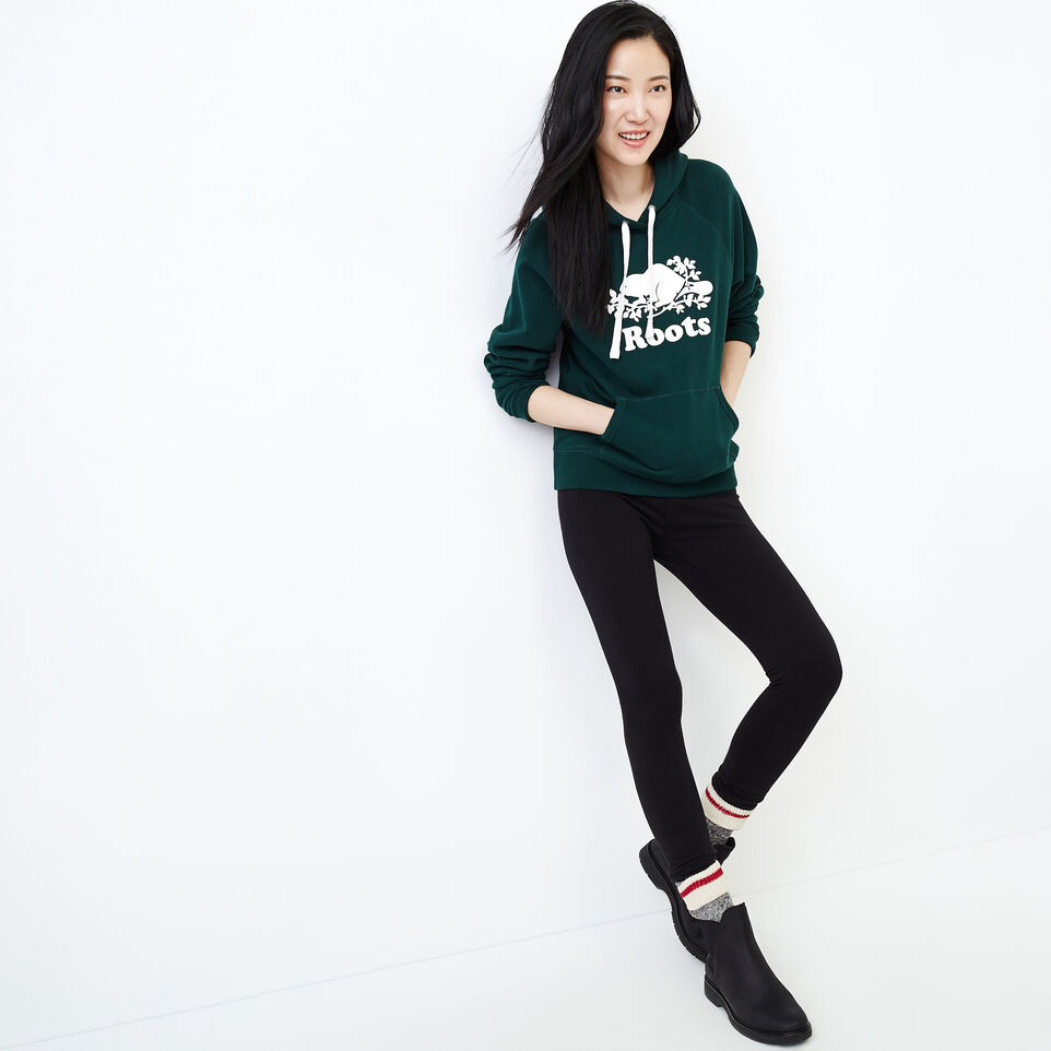 Roots-Women Our Favourite New Arrivals-Original Kanga Hoody-Varsity Green-B
