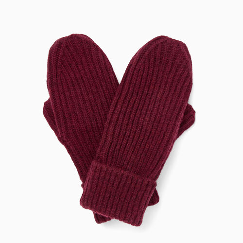 Roots-Clearance Accessories-Granville Mitt-Crimson-A