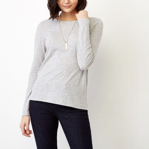 Roots-Women Our Favourite New Arrivals-Pierce Crew Top-Grey Mix-A