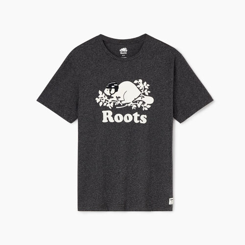 Roots-Men Tops-Mens Cooper Hockey T-shirt-Black Pepper-A