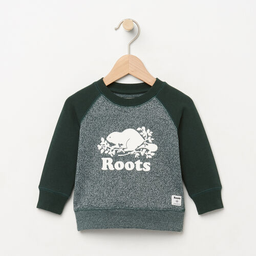Roots-Clearance Baby-Baby Original Crewneck Sweatshirt-Varsity Green Pepper-A