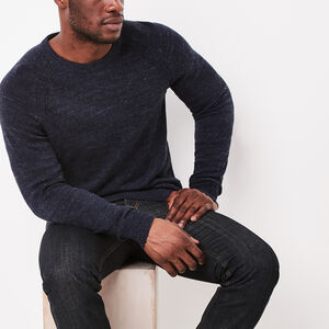 Roots-Men Sweaters & Cardigans-Cape Sweater Crew-Cascade Blue Mix-A