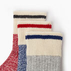 Roots-Kids New Arrivals-Kids Cotton Cabin Ankle Sock 3 Pack-Navy-C