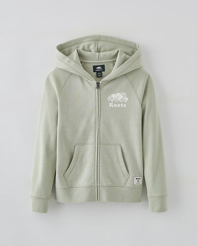 Roots-Sweats Girls-Girls Original Full Zip Hoody-Desert Sage Pepper-A