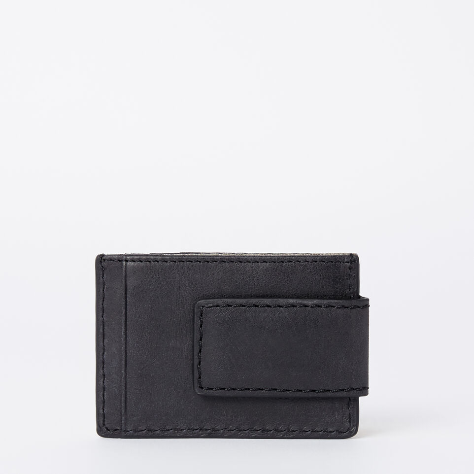 Roots-Mens Money Clip Wallet Tribe