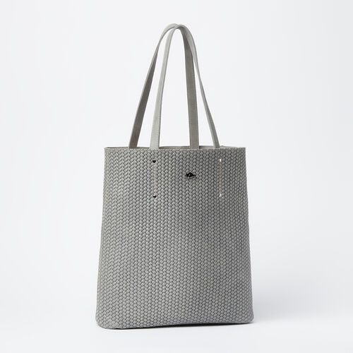 Roots-Sale Leather-Large Downtown Tote Woven Tribe-Quartz-A