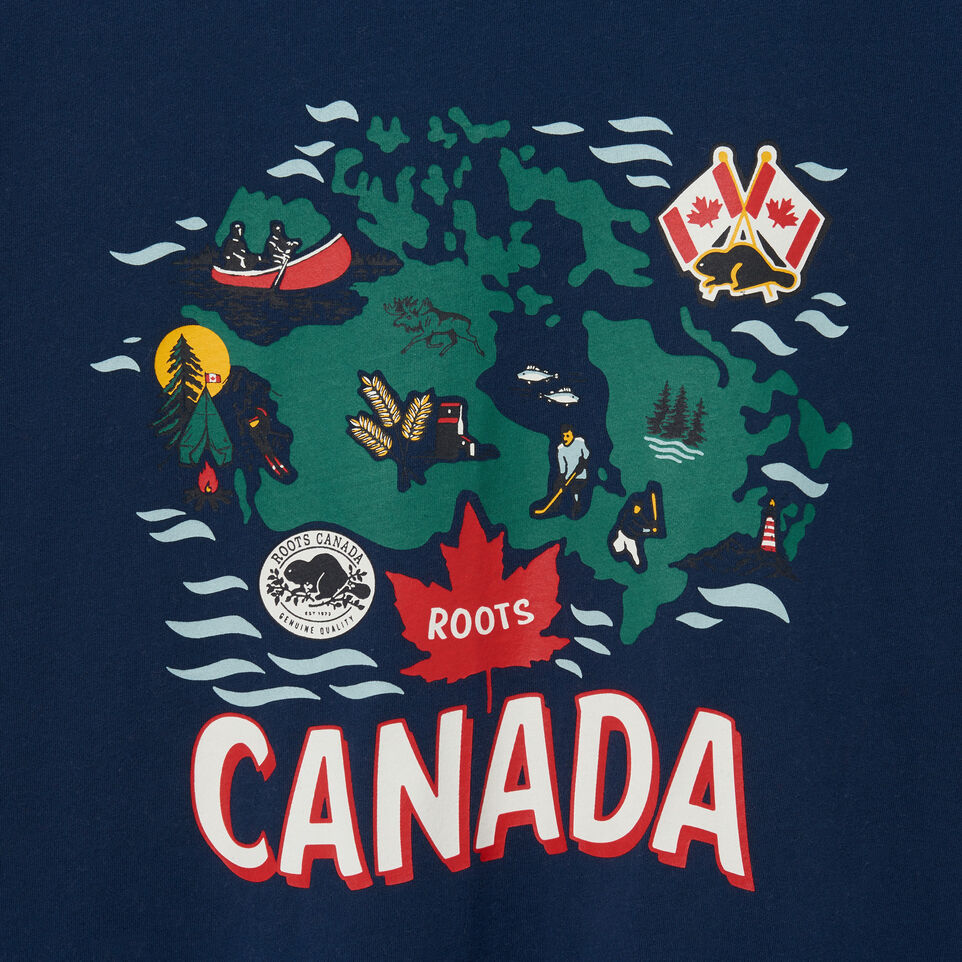 Roots-undefined-T-shirt Across Canada pour hommes-undefined-D