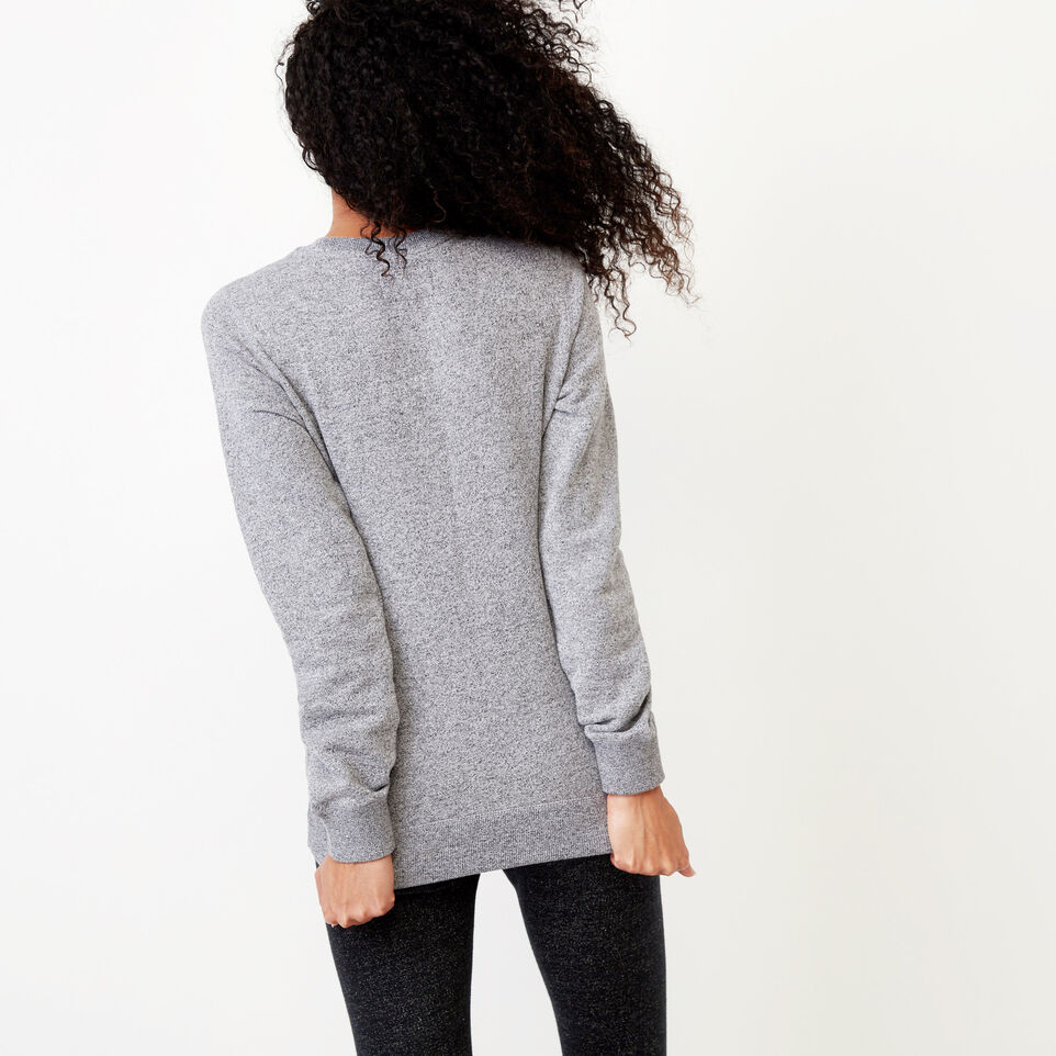 Roots-Winter Sale Women-Buddy Cozy Crew Sweatshirt-Salt & Pepper-D