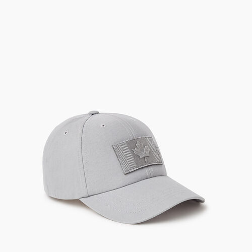 Roots-Men Accessories-Modern Flag Baseball Cap-Grey-A