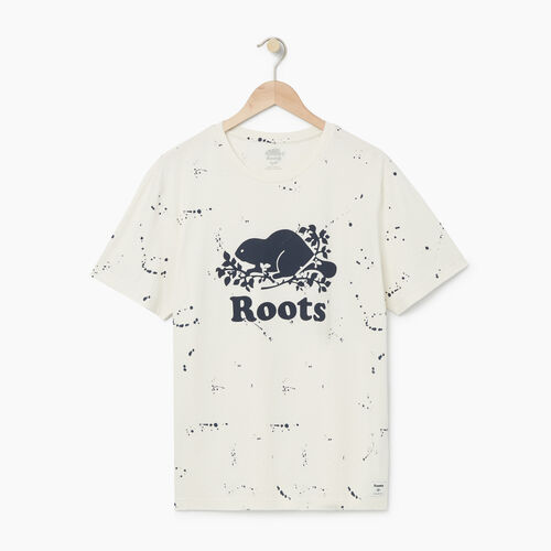 Roots-Men Our Favourite New Arrivals-Mens Splatter Cooper T-shirt-Cannoli Cream-A