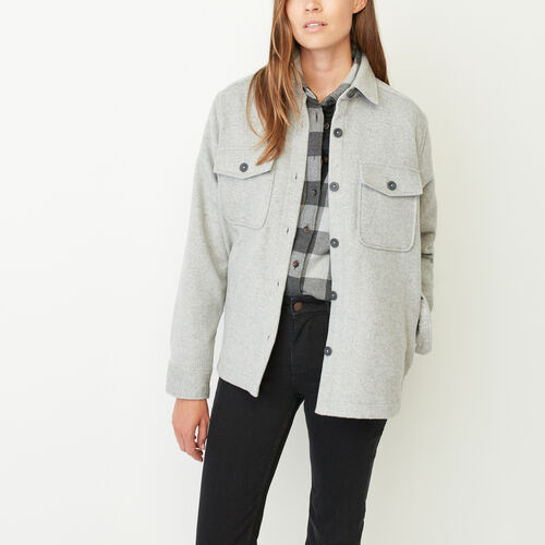 Roots-Sale Women-Aberdeen Shacket-Grey Mix-A