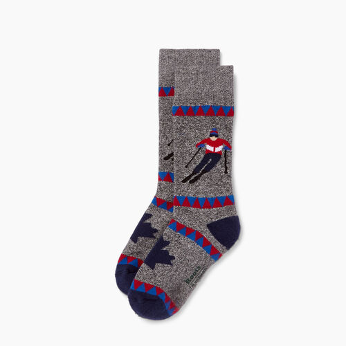 Roots-Kids Our Favourite New Arrivals-Kids Slopes Boot Sock-Navy-A