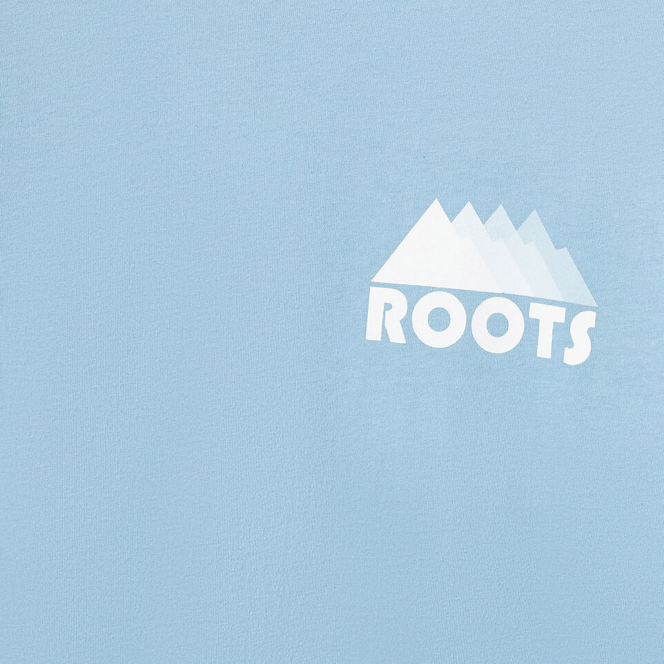 Roots-Men Our Favourite New Arrivals-Mens Mountain Shades Long Sleeve  T-shirt-Dusk Blue-D