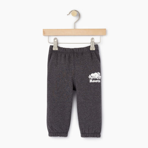 Roots-Clearance Kids-Baby Original Sweatpant-Charcoal Mix-A