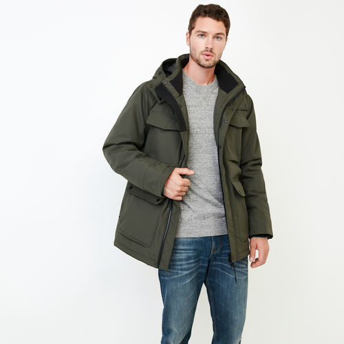 Roots-Clearance Men-Roots Sustainable Parka-Khaki-A