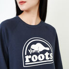 Roots-Women New Arrivals-Vault Relaxed Crew Sweatshirt-Graphite Mix-E