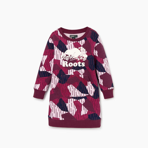 Roots-Clearance Kids-Toddler Camo Dress-Camo Print-A