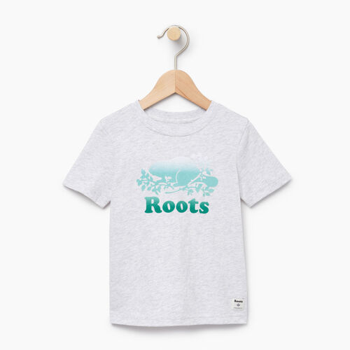 Roots-Kids T-shirts-Toddler Gradient Cooper T-shirt-White Mix-A