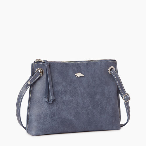 Roots-Leather Categories-Edie Bag-Navy-A
