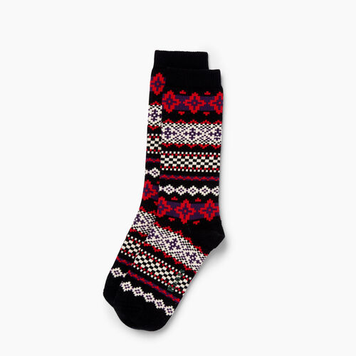 Roots-Women Our Favourite New Arrivals-Chalet Sock-Black-A