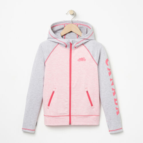 Roots-Sale Girls-Girls Roots Active Jacket-Sea Pink Mix-A