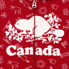 Roots-Kids Our Favourite New Arrivals-Girls Canada Aop Full Zip Hoody-Sage Red-D