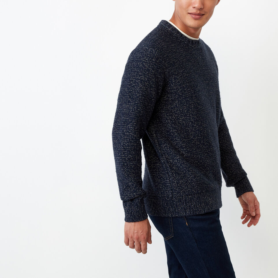 Roots-Winter Sale Men-Snowy Fox Crew Sweater-Navy Fox-C