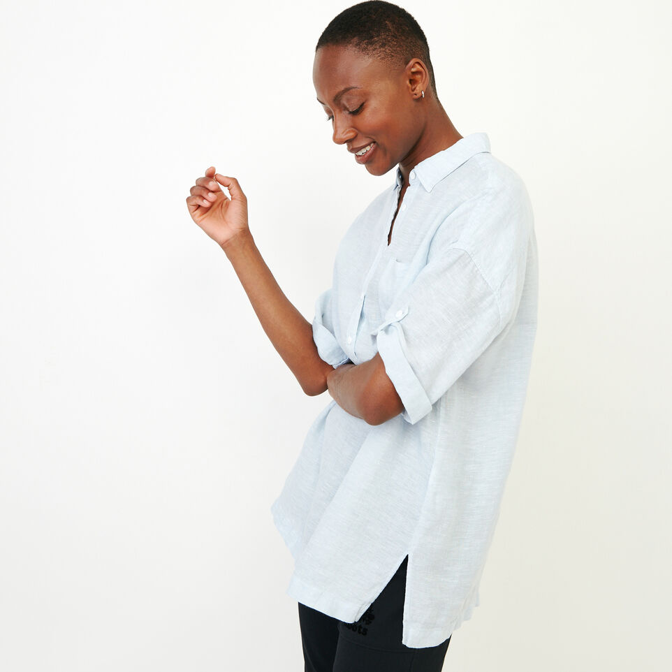 Roots-Women Our Favourite New Arrivals-Rivieres Popover Shirt-Skyway-C
