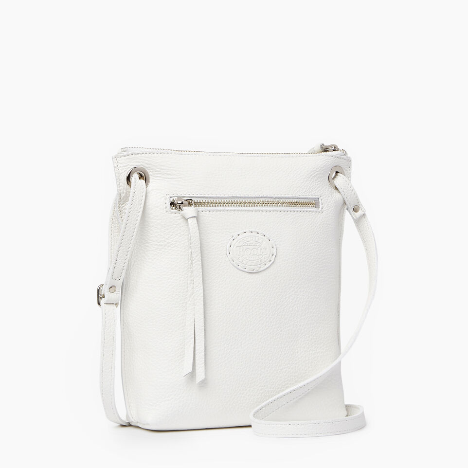 Roots-Leather  Handcrafted By Us Our Favourite New Arrivals-Festival Bag-White-C