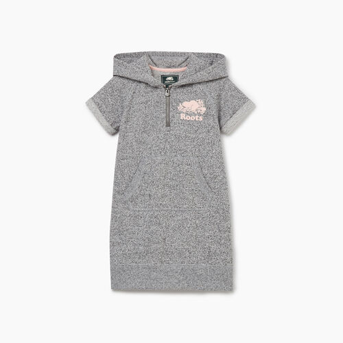 Roots-Kids New Arrivals-Toddler Dockside Hooded Dress-Salt & Pepper-A