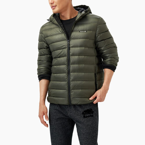 Roots-Men Outerwear-Roots Packable Down Jacket-Loden-A