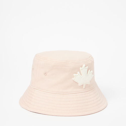 Roots-Kids Accessories-Toddler Canada Leaf Bucket Hat-Pale Blush-A