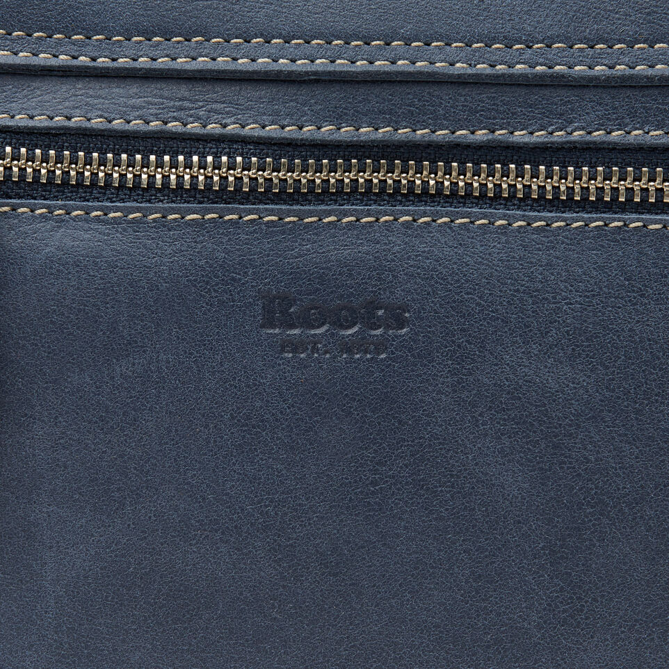 Roots-Leather New Arrivals-Canmore Crossbody Tribe-Navy-E