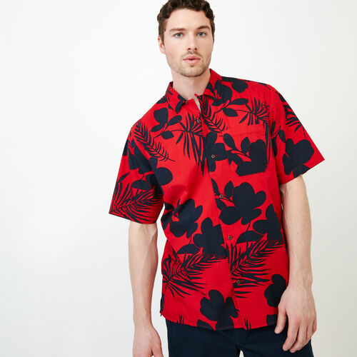 Roots-Men Shirts & Polos-Alder Flat Shirt-Racing Red-A